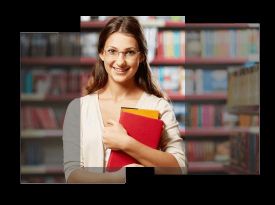 Estudiante mujer sonriendo